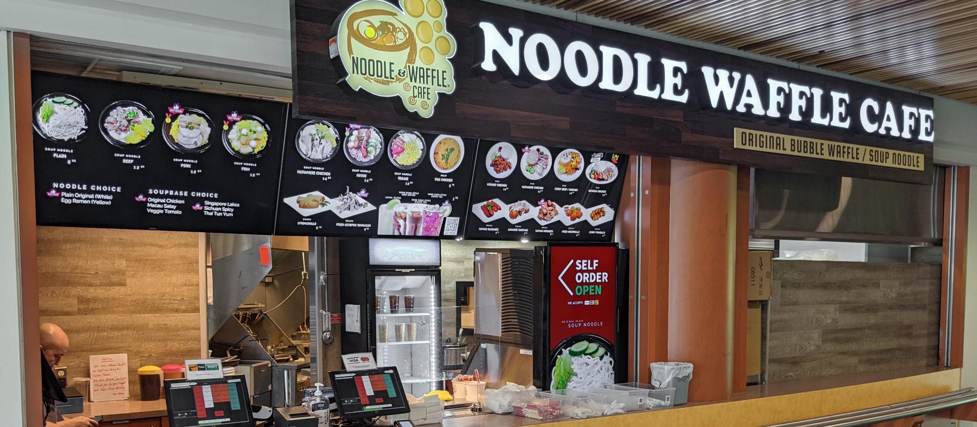 noodle waffle cafe  food  simon fraser university