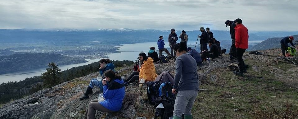 photo of students on mountain top as part of a field experience