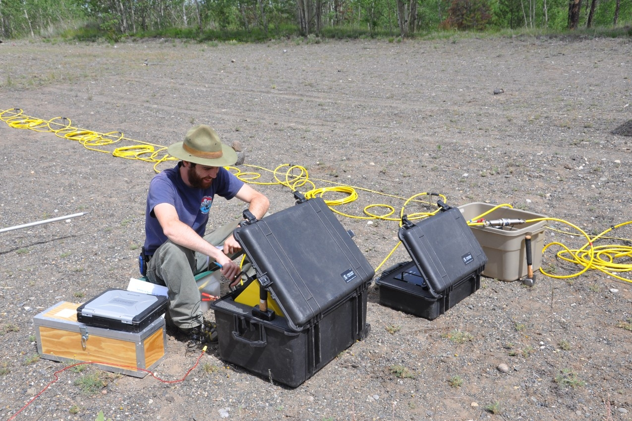 photo of geophysical equipment in use