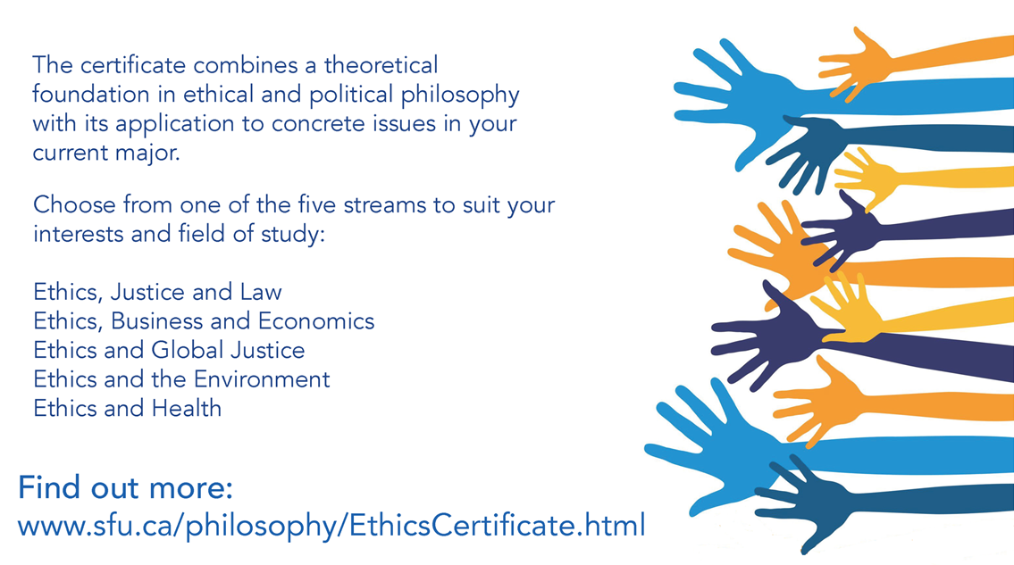 marketing postcard for ethics certificate