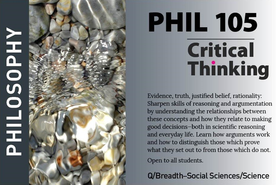 marketing postcard for philosophy course PHIL105