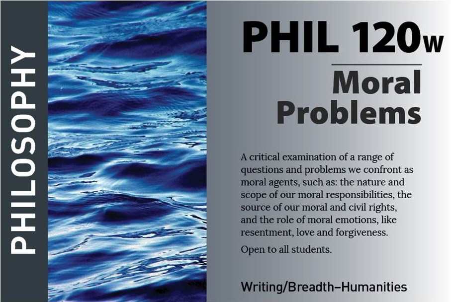 marketing postcard for philosophy course PHIL120W