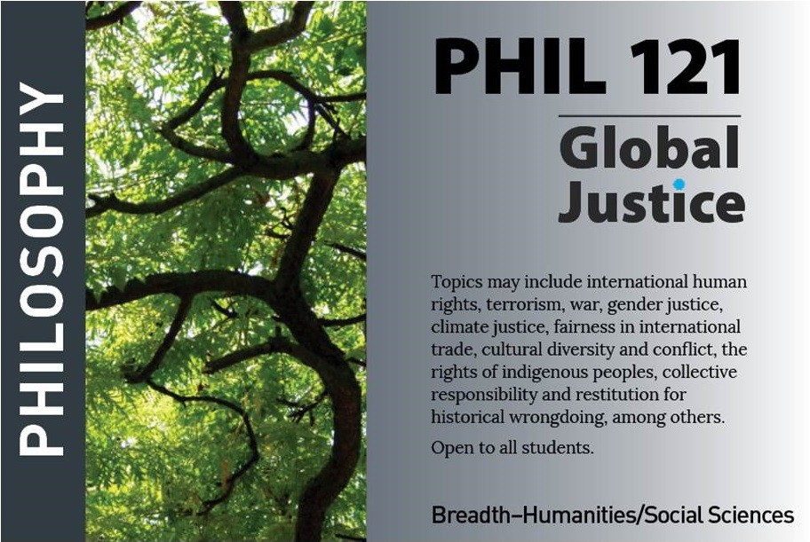 marketing postcard for philosophy course PHIL121