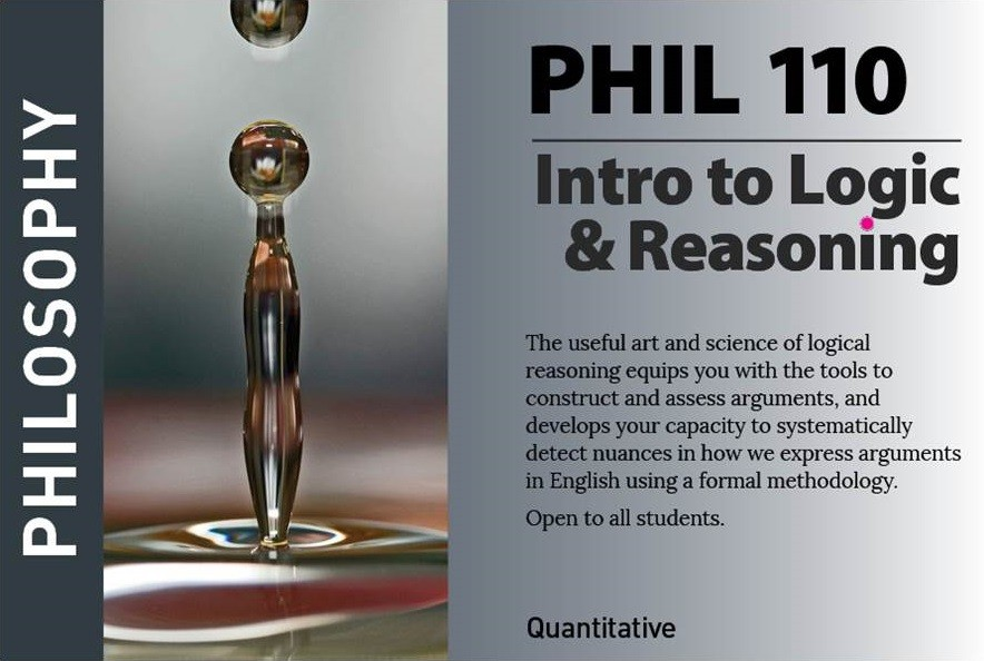 marketing postcard for philosophy course PHIL110