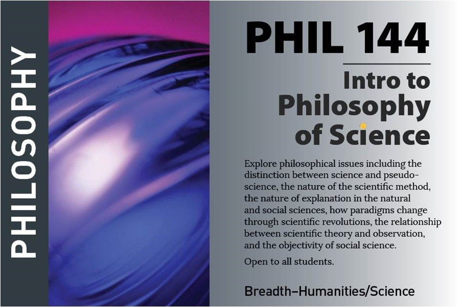 marketing postcard for philosophy course PHIL144