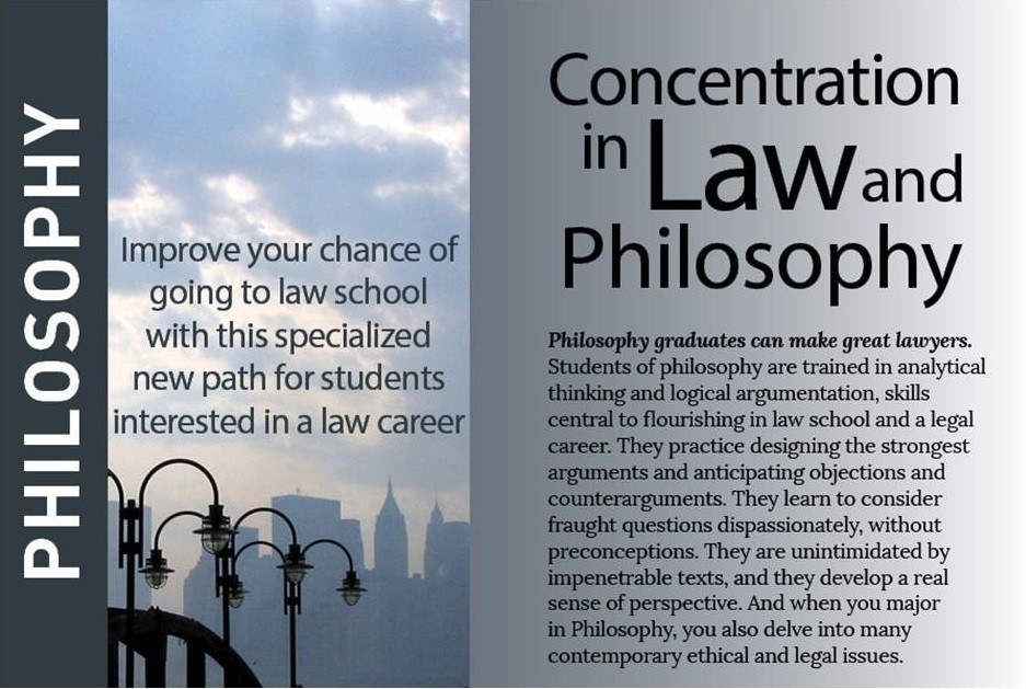 marketing postcard for law concentration
