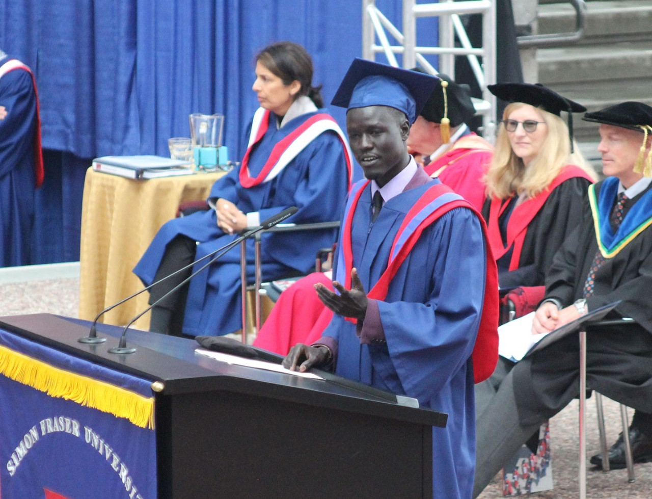 Convocation Profile: Samuel Thiak, Political Science