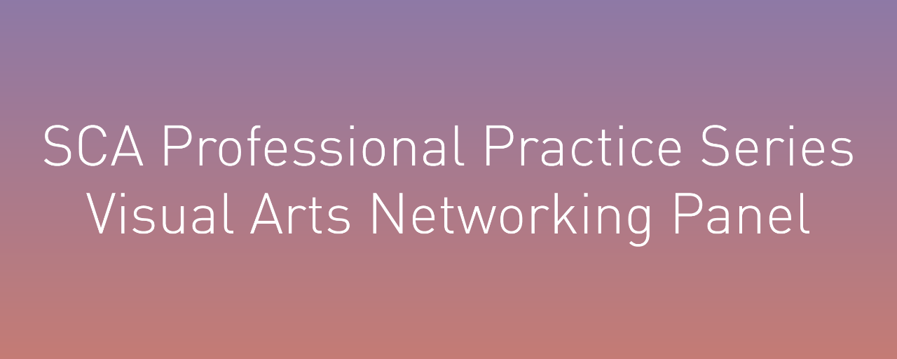 SCA Professional Practice Series: Visual Arts Networking Panel