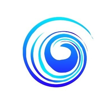 Pacific Water research, swirl logo