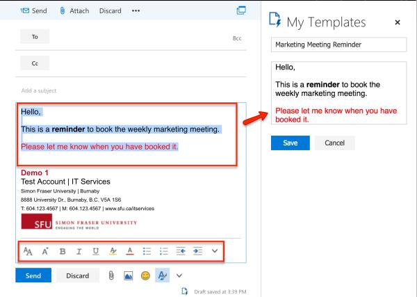 Set Up Email Templates Sfu Mail Simon Fraser University