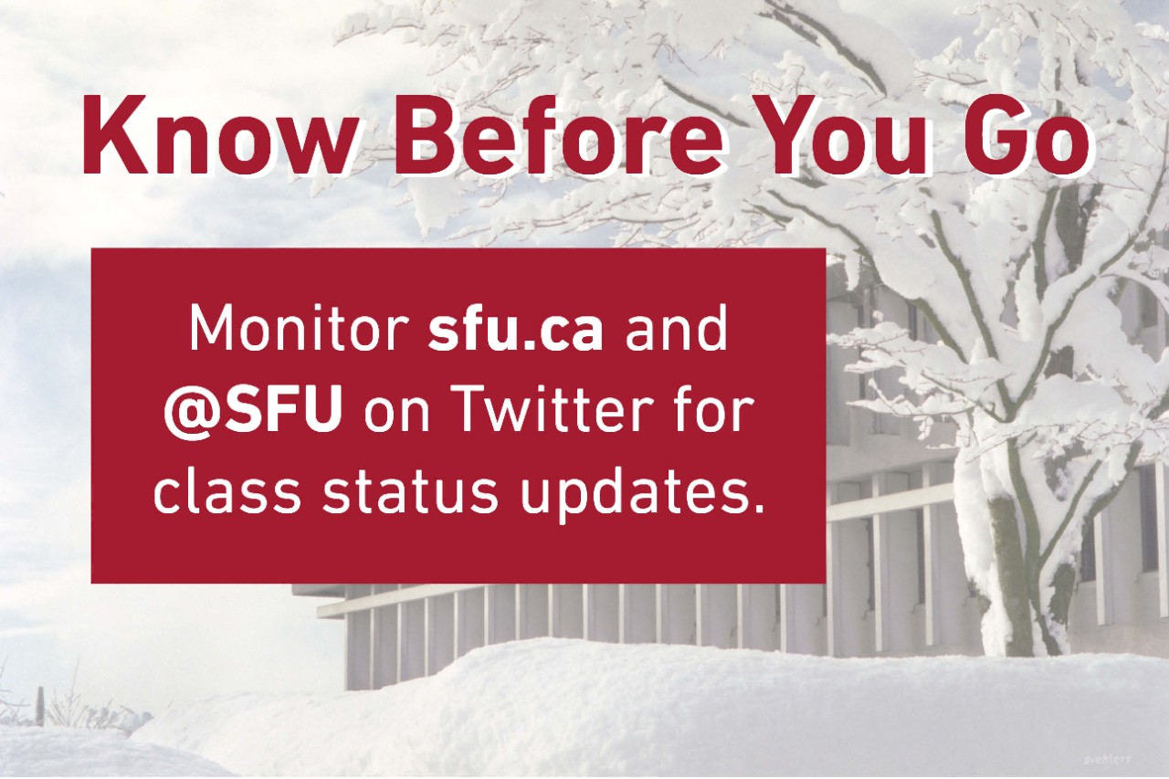 Know before you go - Campus status updates