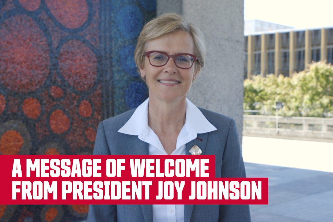 A message of welcome from President Joy Johnson