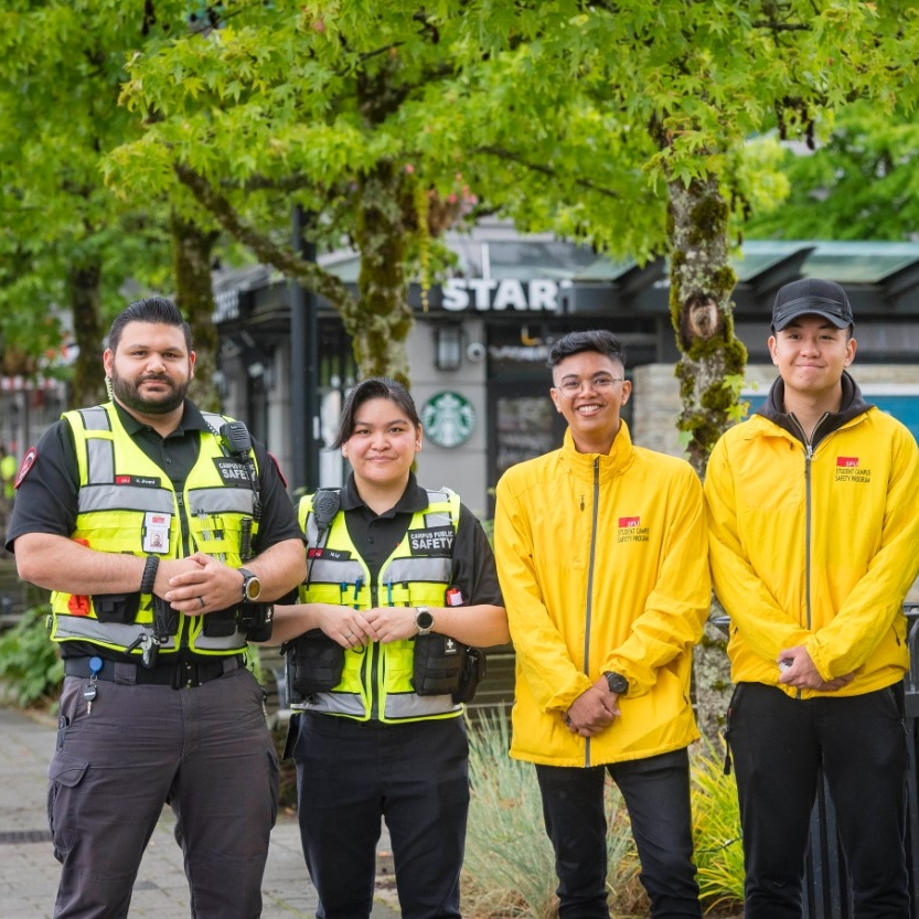 sfu security alongside student volunteers