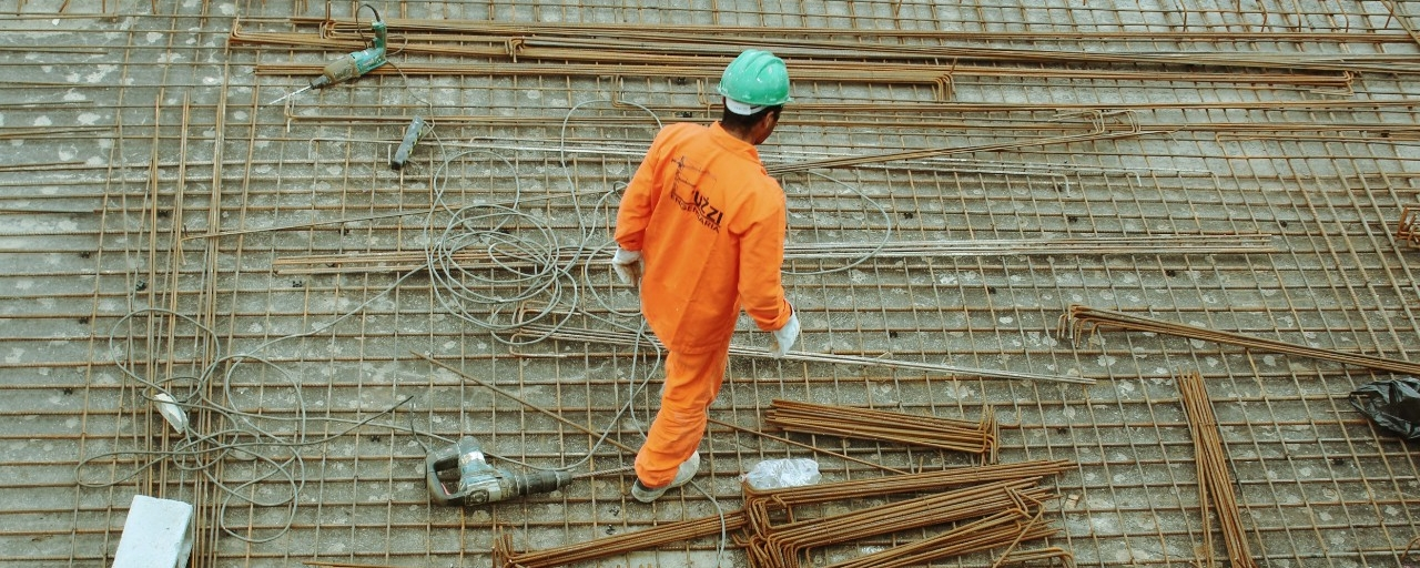construction worker working on a rooftop