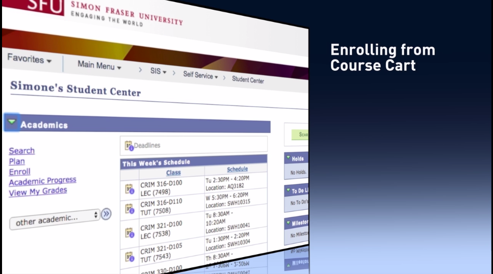 enrolling course cart image
