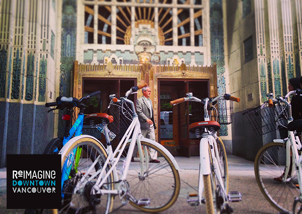 Re-Imagine Downtown Vancouver BikeShop Invitation