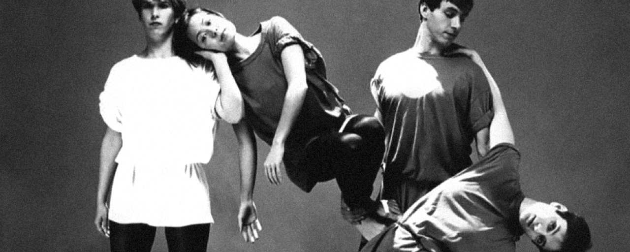 "Kathryn Ricketts, Denise Fujiwara, Tom Stroud, and Tama Soble in ""Making Waves"" mid-1980s courtesy of Dance Collection Danse"