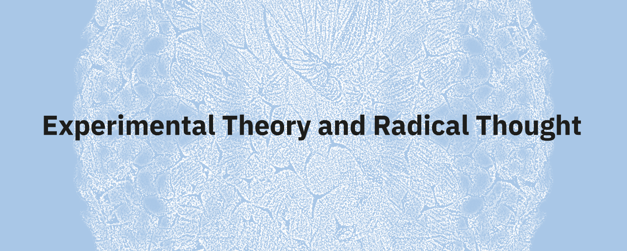 Experimental theory and Radical Thought