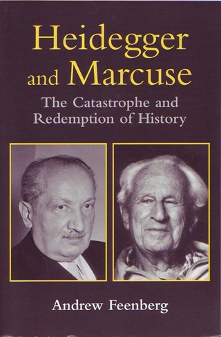 "The Book cover of ""Heidegger and Marcuse: The Catastrophe and Redemption of History"""