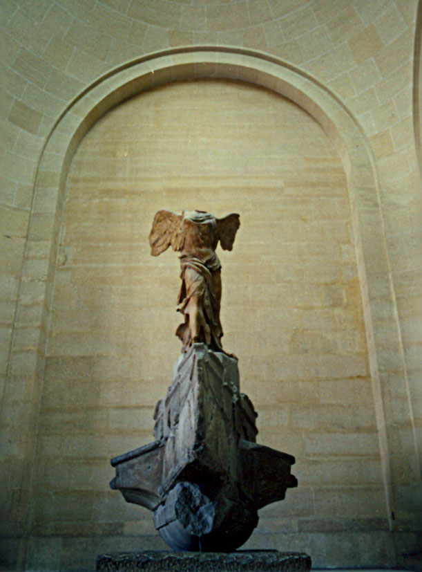 The Winged Victory, or Nike of Samothrace, in the Louvre Museum, Paris.